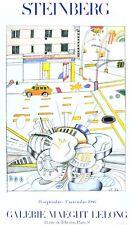 Saul Steinberg Galerie Maeght Lelong Poster Kunstdruck Bild 96x57,5cm
