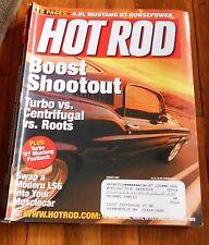 HOT ROD MAGAZINE Aug. 2003- Turbo vs Centrifugal vs Roots' '67 Mustang Fastback