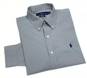 Ralph Lauren Men's Classic Fit Performance Shirt In Grey