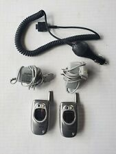 2 Samsung SCH-A670 Verizon SILVER Hipster Cell Phone video Camera flip easy