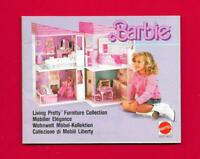 Catalogue Barbie mobilier de poupée Elégance 1987 - 20 pages - 13 x 10,5 cm