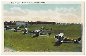 One of Uncle Sam's Army Aviation School Vintage Postcard #1550