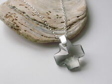 Sterling Silver Pendant Necklace Made with Swarovski Crystal Cross, Gift Box