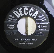 Christmas 45 Ethel Smith - White Christmas / Jingle Bells On Decca