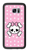 Pink Polka Dots Skull For Samsung Galaxy S7 G930 Case Cover by Atomic Market