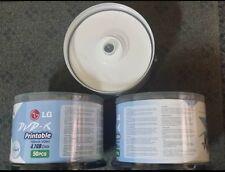 LG DVD-R 50 Discs Printable 4.7GB Data/120min Video 1-16X (Lot of 2,Total 100pcs