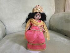 Madame Alexander Doll India, Coral Dress, 8 Inches, Very Good