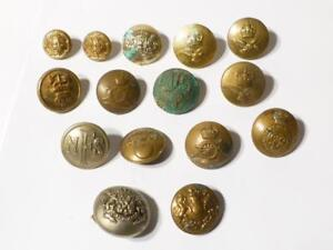 Mixed 15 Antique Vintage Military Livery Buttons Research COLLECTORS LOT#BB1
