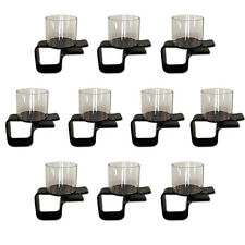 10 Plastic Clip On Drink Cup Holders for Poker Table
