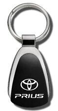 Toyota Prius Laser Etched Black Teardrop Keychain