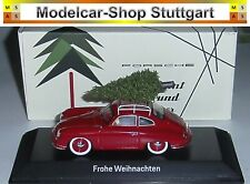 "Porsche 356 Tannenbaum Rot ""Frohe Weihnachten"" - Spark 1:43 - MAP02010220 - neu"