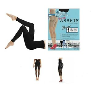NEW Spanx Original High-Waisted Footless Shaper Black Size 2 Love Your Assets
