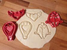 Set di 3 Tagliabiscotti per San Valentino (Cuore alato, mongolfiera dell'amore e