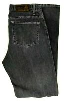 Perry Ellis America Men Jeans Size 34 x 34 Faded Black Wash Denim