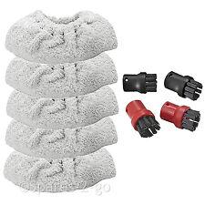 Buse à brosse outils + tissu éponge couvre pour karcher nettoyeur vapeur SC4100 SC5800