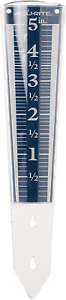 AcuRite 00850A2 Rain Gauge 5-Inch Capacity Easy-Read Magnifying Blue 12.5 inches