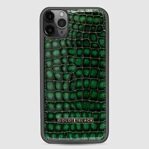 GOLDBLACK Premium iPhone 11 Pro Leder-Hülle Milano Grün aus Leder