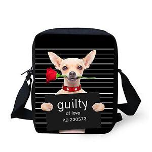 Fashion Chihuahuas Shoulder Bag Women Cross Body Purse Satchel Messenger Handbag