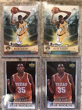 (4) 2007-08 Upper Deck Kevin Durant RC MEGA Lot!!!!  4 Rookie Sonics Nice Card!!