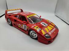 """1:18 Bburago 1992 Ferrari F40 Red Evoluzione #3 """"Brummel"""""""