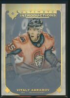 2019-20 Upper Deck Ultimate Introductions RC UI-38 Vitaly Abramov