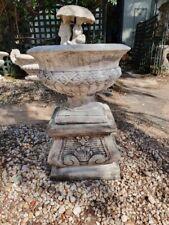 classic urn on ornate pedestal planter pot garden decor