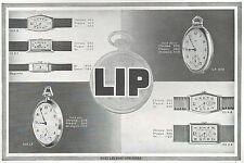 ▬► PUBLICITE ADVERTISING AD MONTRE WATCH LIP 1931