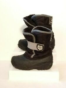 Kamik Toddler's Black Winter Snow Boots Size 8