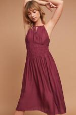 Anthropologie Smocked Halter Midi Dress Moulinette Soeurs XS Size 2 NWT