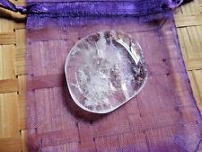 52-Pierre plate cristal de roche -25/30grs-Reiki-Feng shui