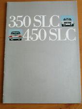Prospekt  Mercedes R 107 -  350 SLC  - 450 SLC - 1973  Brochure