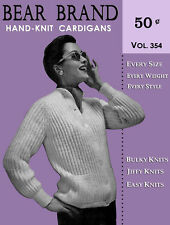 Bear Brand #354 c.1957 - Hand Knit Cardigans Fifties Fashion Patterns for Women