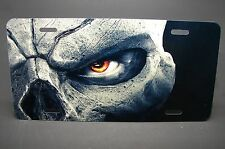 SKULL LICENSE PLATE TAG FOR CARS SUV ALUMINUM METAL NICELY DESIGN