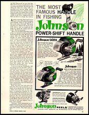 1962 Johnson Reels Fishing Sabra 710 Gull Centennial Vintage Print Ad