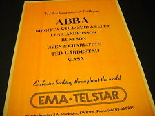 Abba we love being associated with you 1976 Promo Display Ad from Ema Telstar