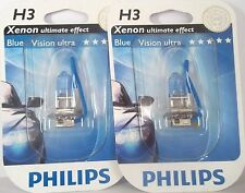 H3 PHILIPS BLUEVISION ULTRA POWER CAR BULBS PHILIPS H3 ULTRA VISION PAIR