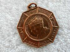 médaille jeton en bronze coronation king georges VI and queen elisabeth 1937