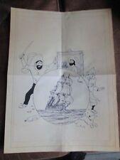 Hergé&Tintin-Fac similé-Affiche poster-Trésor de rackham années 50