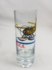 """Alaska Shot Glass,Souvenir,State,Barware,Plane,Souvenir,tall,4"""",Vintage,Juneau"""