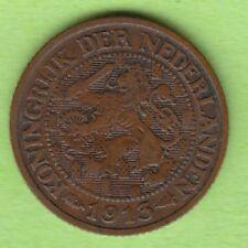 Niederlande 1 Cent 1913 seltener Jahrgang sehr schön nswleipzig