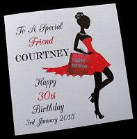 Personalised Handmade Birthday Card Sister Daughter Friend Auntie Niece Cousin