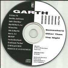 GARTH BROOKS Somewhere other than the Night 1992 USA PROMO DJ CD single MINT