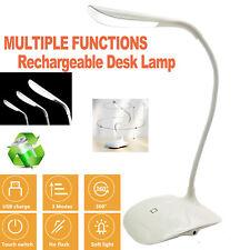 Rechargeable Gooseneck Table Lamp Nightstand Lamp Bedside Lamp Bedroom Office US
