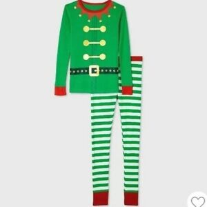 Wondershop Kids Matching Elf 2 Piece Pajama Set sz 4 - NWT