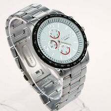Men`s Quality Rosra Quartz Silver Stainless Steel Sports Dial Wrist Watch.