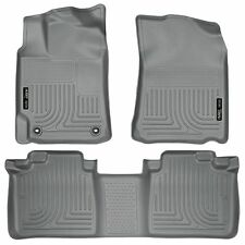 Husky Liners WeatherBeater Floor Mats - 3pc - 98902 - Toyota Camry 12-17 - Grey