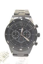 Fossil BQ2227 Flynn Sport Black Tone Stainless Steel Bracelet Men's Chronogra...