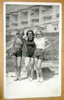 Vintage Postcard Teenage Girls Real Photo Postcard RPPC