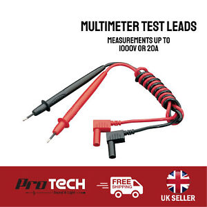 Multimeter Test Leads for Measurements up to 1000V or 20A