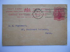 Carte postale - entier postal one penny great britain - Oblitération London 1902